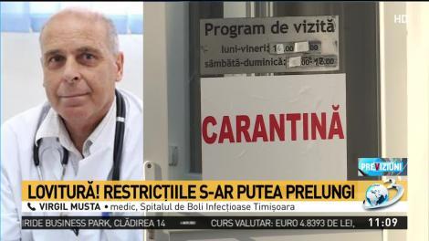 Dr. Virgil Musta: Cred că ar trebui un sistem de relaxare pe zone sau domenii de activitate