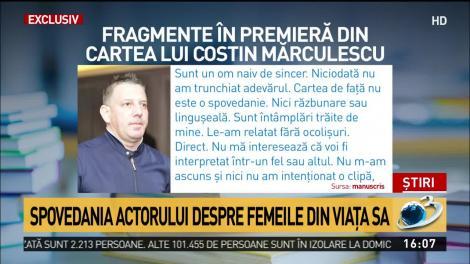 """Fragmente din cartea scrisă de Costin Mărculescu, făcute publice pentru prima dată. Actoruldezvăluiacine a fost marea lui iubire: """"Avea 18 ani și era mai inocentă decât crinul alb!"""""""