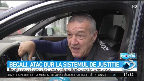 Aroganță supremă! Gigi Becali s-a dus cu avionul la tribunal, după ce a fost avertizat că va fi ridicat cu jandarmii, dacă nu se prezintă