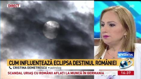 Astrologul Cristina Demetrescu a explicat efectele eclipsei de soare asupra zodiilor. Influențe energetice negative până la finalul anului