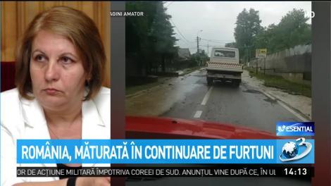România, măturată în continuare de furtuni. Codul portocaliu de ploi torențiale a fost prelungit. Care sunt zonele afectate