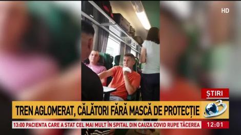 Situație revoltătoare în tren. Călătorii nu poartă mască, stau înghesuiți și se bat pe locuri- VIDEO