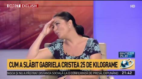 """Cum a slăbit Gabriela Cristea 25 de kilograme! Regimul simplu pe care l-a urmat! """"Puteam să fiu în categoria de risc""""   VIDEO"""