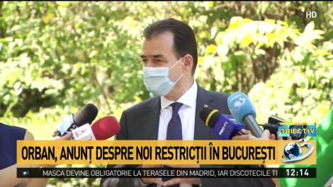 Ludovic Orban, detalii importante despre noile restricții. Autoritățile pregătesc controale la sânge