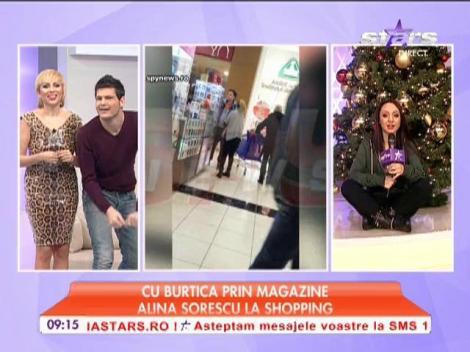 Alina Sorescu, la shopping de Crăciun