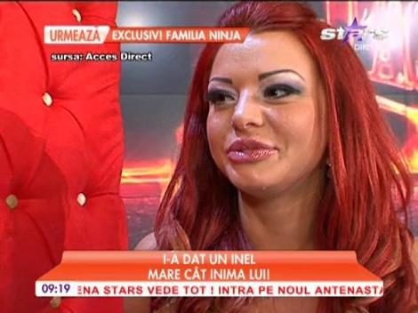 Ana Maria Mocanu a primit un inel de sărbători