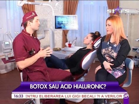 Botox vs. acid hialuronic