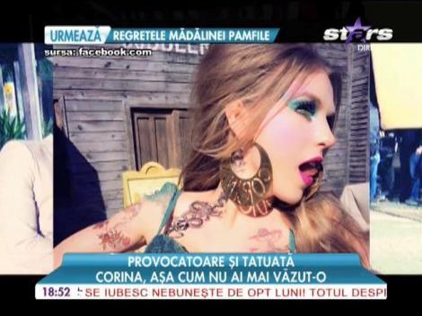 Corina, provocatoare şi tatuată