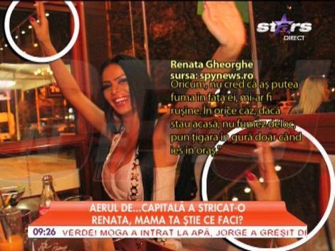 Renata s-a apucat de fumat
