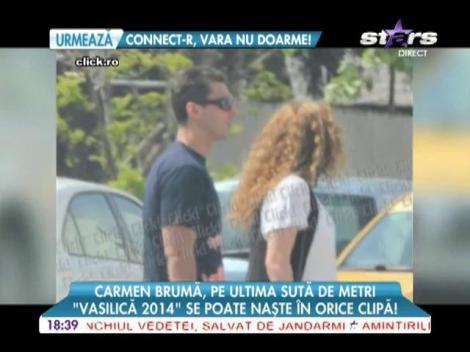 Carmen Brumă și-a făcut bagajul pentru maternitate