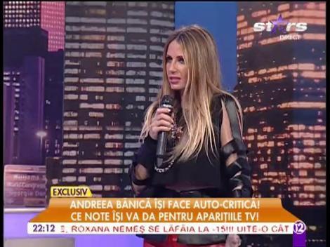 Andreea Bănică, note pentru aparițiile TV