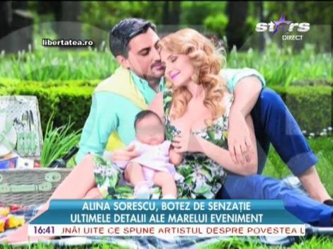Fetiţa Alinei Sorescu va avea parte de un botez de senzaţie