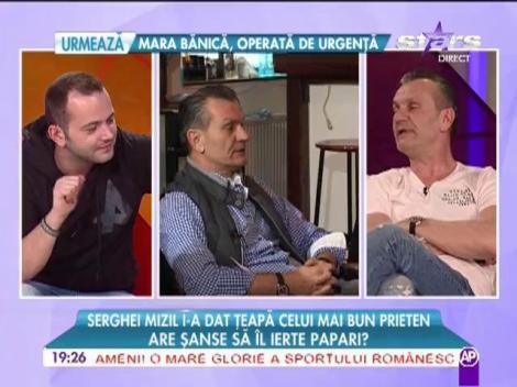 Serghei Mizil i-a făcut o farsă prietenului său George Papari