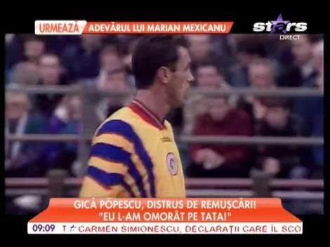 Declaraţiile lui Gică Popescu după moartea tatălui său