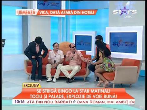 Romică Țociu și Cornel Palade strigă bingo la Star Matinal