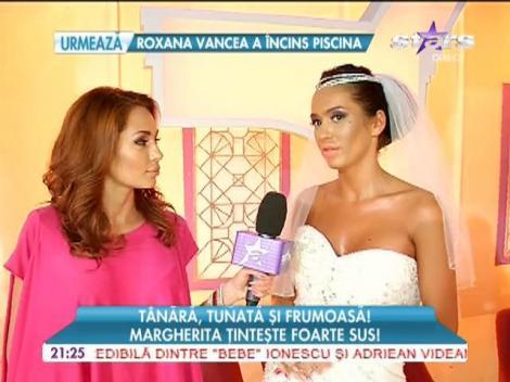 Margherita a îmbrăcat rochia de mireasă