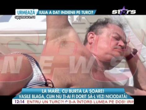"""Vasile Blaga, """"spectacol"""" pe litoral"""