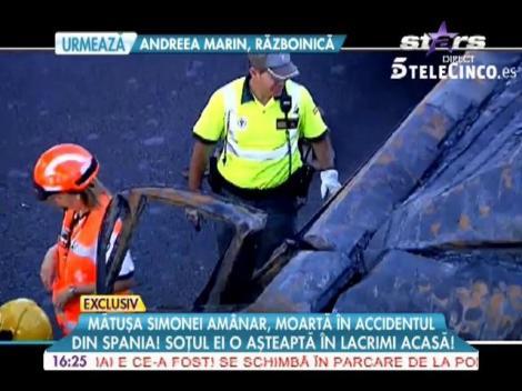 Mătușa Simonei Amânar, moartă în accidentul din Spania