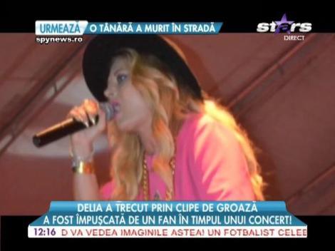 Delia, împuşcată de un fan în timpul unui concert