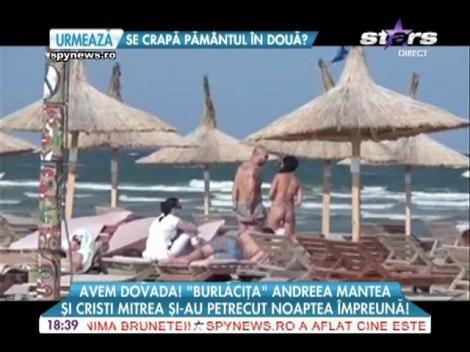 """""""Burlăciţa"""" şi Cristi Mitrea, noapte romantică la un hotel de pe litoral"""