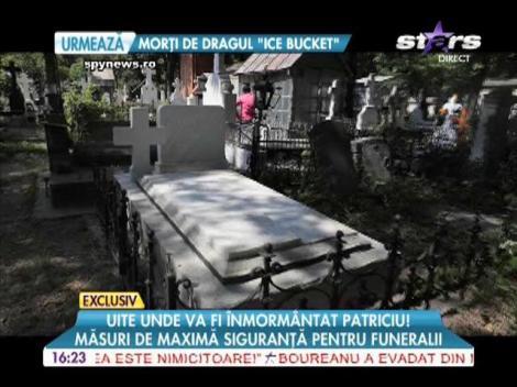 Imagini cu locul unde va fi înmormântat Dinu Patriciu