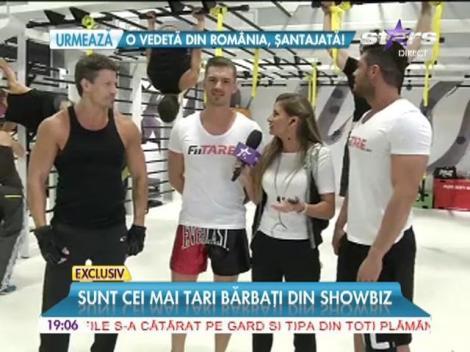 Actorul american Paul Logan, Victor Slav şi Bogdan Vlădău, surprinşi împreună la antrenamente!