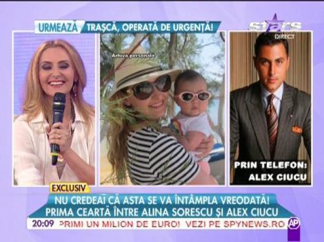Prima ceartă între Alina Sorescu şi Alex Ciucu