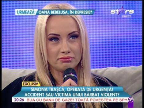 Simona Traşcă, operată de urgenţă la nas!