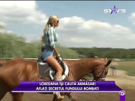 Loredana Chivu învață să călărească