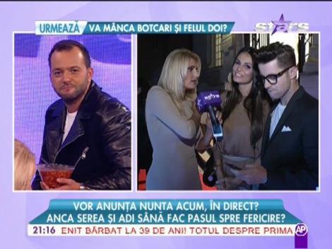 Anca Serea şi Adi Sână au anunţat nunta, în direct!