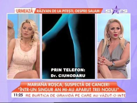 VIDEO / Mariana Roşca trece prin momente cumplite, după ce a aflat că e suspectă de cancer! Cum s-ar putea vindeca aceasta