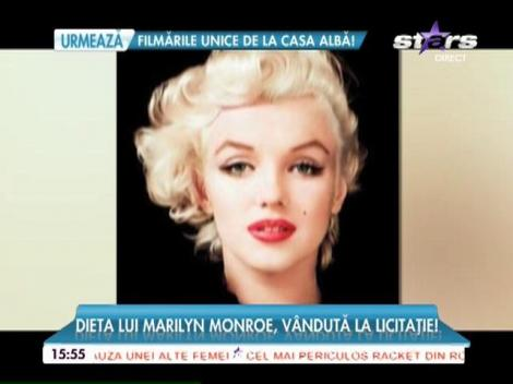 Dieta lui Marilyn Monroe, vândută la licitație!