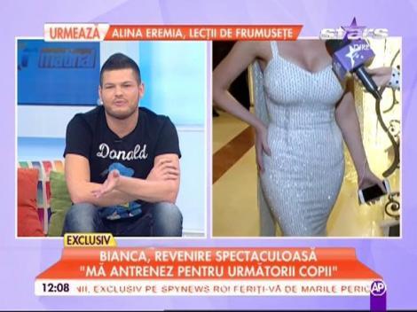 """Bianca Drăguşanu, prima şedinţă foto după naştere: """"Mă antrenez pentru următorii copii"""""""