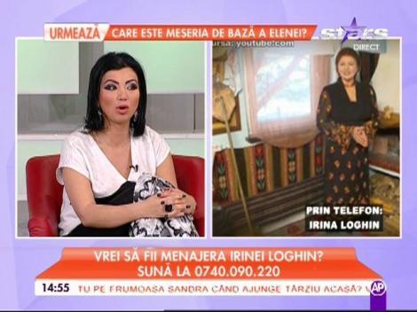 """Irina Loghin încă nu are menajeră: """"Dacă e nevoie îi fac şi carte de muncă"""""""