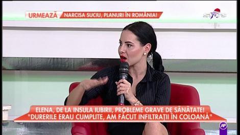 """Clipe de groază pentru Elena de la """"Insula Iubirii""""! """"Am căzut şi mi-am fisurat coloana"""""""