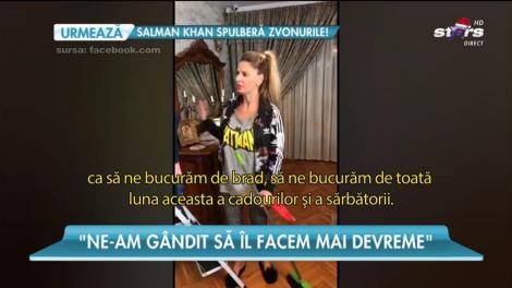 Andreea Bănică a decorat bradul de Crăciun, alături de copiii ei, în direct pe Facebook. Detaliul care a făcut deliciul fanilor
