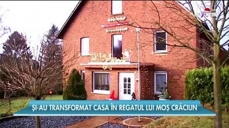 Și-au transformat casa în regatul lui Moș Crăciun!