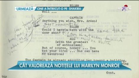 Cât valorează notiţele lui Marilyn Monroe