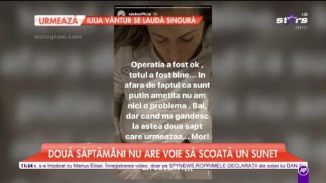 Raluka a fost operată în mare secret