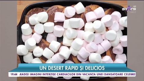 Ce ziceți de un preparat dulce făcut în câteva minute? Doar TREI INGREDIENTE și obții cel mai rapid și delicios desert, cu multă ciocolată (VIDEO)