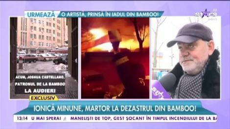 Lăutarul Ionică Minune, martor la dezastrul din clubul Bamboo