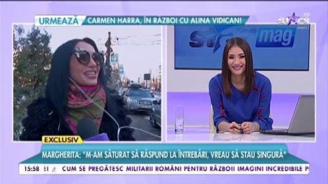 """Margherita de la Clejani: """"Mă mut cu chirie!"""""""