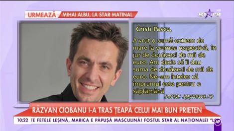 Răzvan Ciobanu i-a tras țeapă celui mai bun prieten!