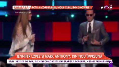 Jennifer Lopez şi Marc Anthony, din nou împreună. După un sărut pasional, urmat de un divorț, artiștii au făcut public momentul mult așteptat de fani
