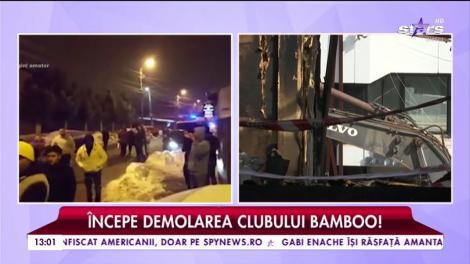 A început demolarea clubului Bamboo!