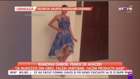 """Ramona Gabor, femeie de afaceri """"Se muncește din greu, facem uniforme, facem producții mari"""""""