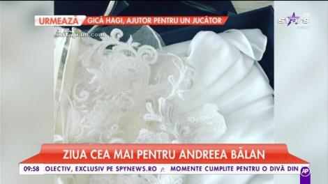 """Andreea Bălan se căsătoreşte azi pe o plajă din Los Angeles! Primele imagini cu rochia de mireasă a juratei """"Te cunosc de undeva!"""""""