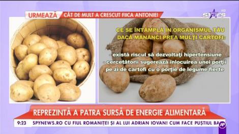Îţi plac cartofii? Iată un lucru la care nu te-ai fi gândit: ce se întâmplă dacă mănânci prea mulţi