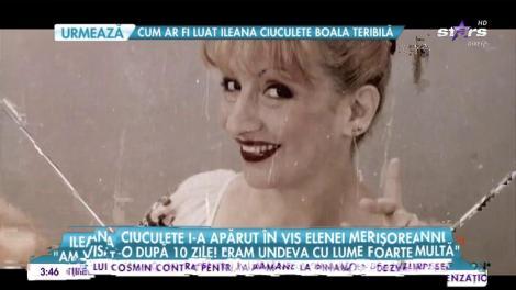 """Ileana Ciuculete i-a apărut în față la câteva săptămâni de la înmormântare: """"Eram într-un loc cu multă lume când a apărut ea!"""""""