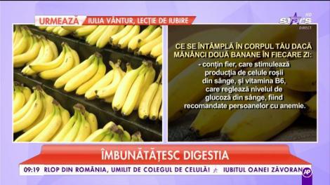 Trebuie să afli şi tu beneficiile consumului de banane. Ce se întâmplă dacă mănânci una în fiecare zi